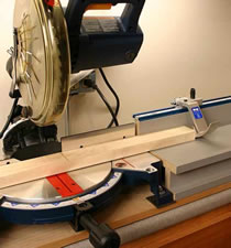 Image of Kreg Precision Measuring System Mounted on Miter Saw
