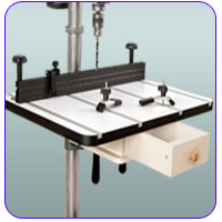 The Woodworkers Drill Press Table gives you plenty of work surface for just about any drill press application.