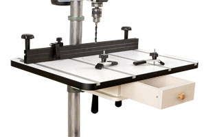 The Woodworkers Drill Press Table gives you plenty of work surface for just about any drill press application