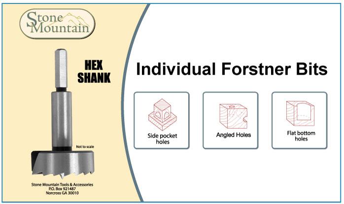 Individual Forstner Drill Bits